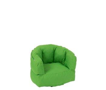 J-Line Kinderzetel Laag Polyester Groen