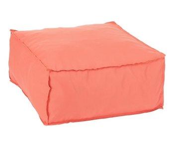 J-Line Poef Vierkant Polyester Oranje