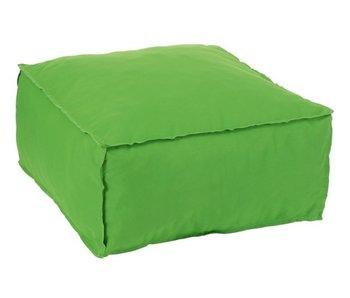 J-Line Poef Vierkant Polyester Groen