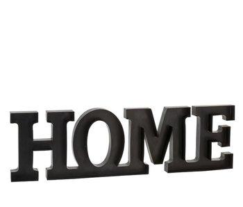 J-Line Home Letters Metaal Zwart