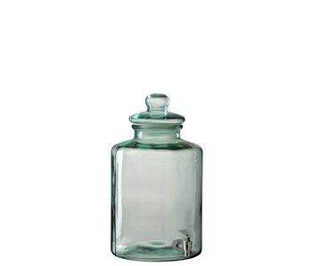 J-Line Drankdispenser Cilinder Glas Transparant