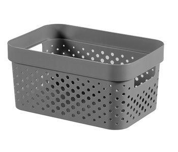 Infinity recycled box 4.5 l dots d.grijs 26x17.5xH12.3