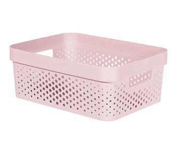 Infinity recycl.box 11 l dots roze 35.6x26.6xH13.6
