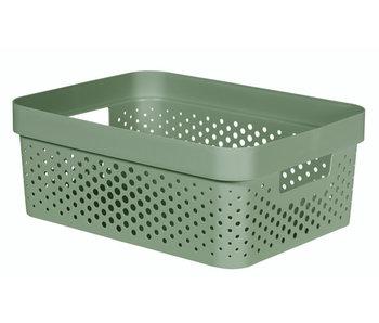 Infinity recycl.box 11 l dots groen 35.6x26.6xH13.6