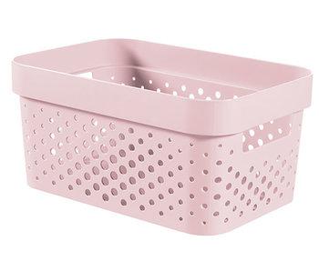 Infinity recycl.box 4.5 l dots roze 26x17.5xH12.3