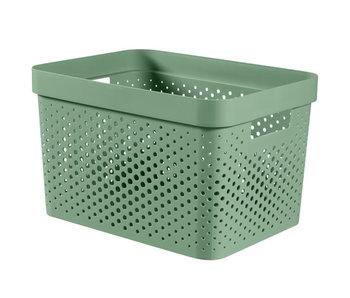 Infinity recycl.box 17 l dots groen 35.5x26.2xH21.9