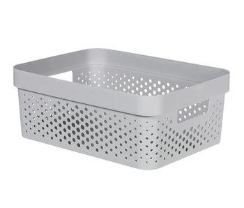 Infinity box 11 l dots D.grijs 35.6x26.6xH13.6