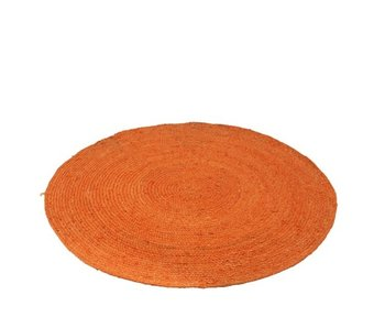 Tapijt Rond Jute Oranje