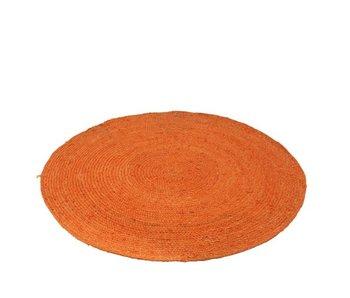 Tapis Rond Jute Orange