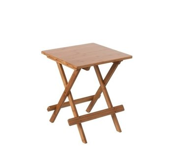 Table d'appoint Pliable Bambou Naturel