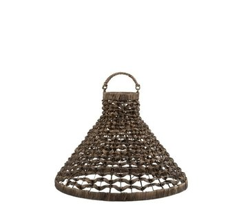 J-Line Lampkap Hangend Waterhyacint Bruin