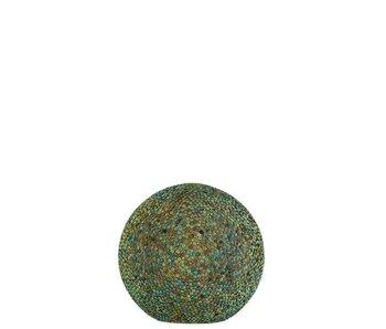 Boule Led Diamant Verre Bleu/Vert