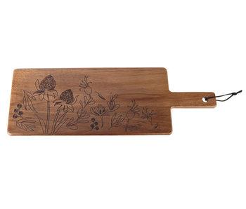 Acacia serveerplank 35.5x25x1.5cm