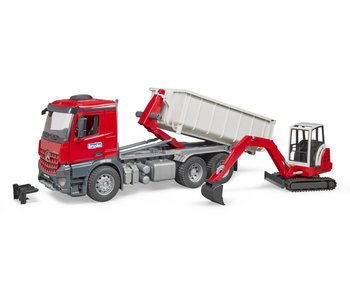 Bruder 3624 MB Arocs Truck with roll-off-container