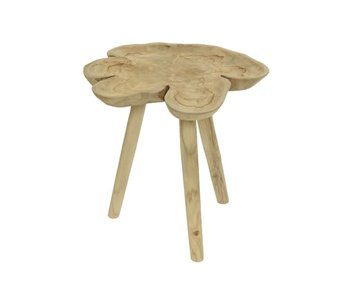 Table d'appoint nature 2/ 45x45x44h teck