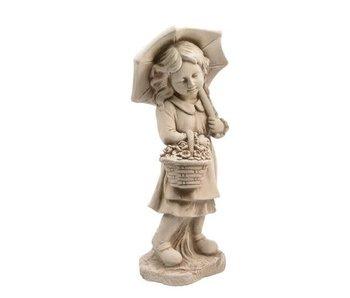 Statue extérieur fille - 24x30x66h