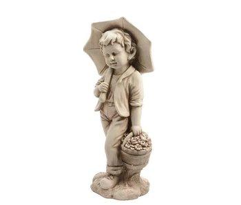 Statue d'extérieur garçon - 24x30x66h