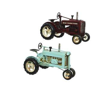 Copy of Tractor ijzerlicht blauw  16x16.5x25.5h