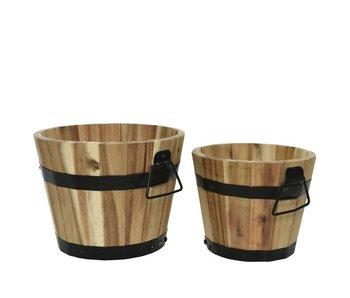 Planter acacia - klein 20x17h