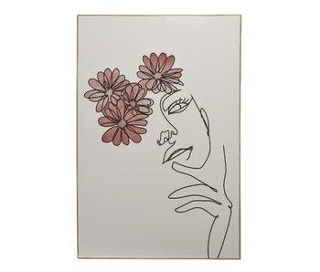 Schilderij red flower - 60x90h
