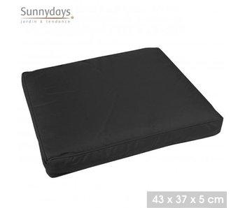 Stoelkussen - zwart 43x37x5