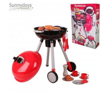 Jouer au barbecue, y compris divers accessoires.