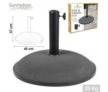 Base de parasol 20 kg - 45x37cm ciment gris