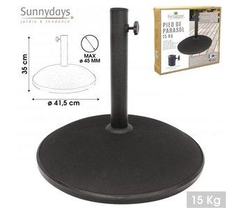 Base de parasol 15 kg - 45cm ciment noir