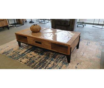 Vigo Table basse 1 tiroir/2 compartiment ouvert 137x67x38H