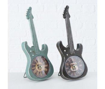 Klok gitaarvorm blauw - H34cm