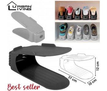 Opberger schoenen - per 4 stuks - zwarte kleur