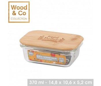 370ml food cantainer bamboo