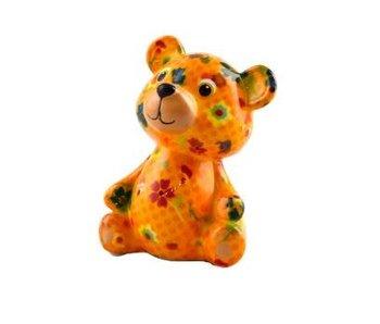 Pomme pidou Tirelire ours 'Teddy' jaune - 8,5x7xH12 - Petit