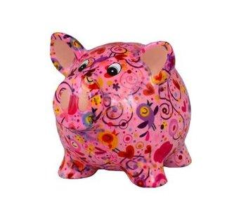 Pomme pidou Tirelire 3 Rosie - cochon 16.5x13.5xH14.1