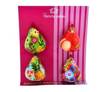 Pomme pidou Lot d'aimants en céramique - Mathilda XS 4x3,5xH5,8 cm
