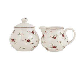 Clayre & Eef Pot à lait et sucrier - set de rose