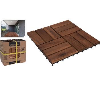 Ensemble de carreaux de terrasse 9 pièces - 30x30cm