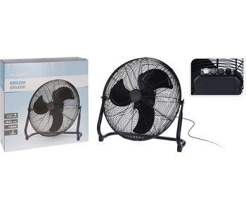 Ventilateur de sol dia 45cm - noir