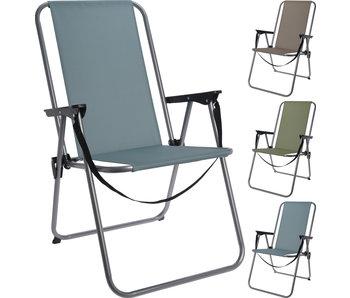 Chaise pliante gris / vert