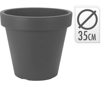 Pot de fleurs anthracite - D35cm