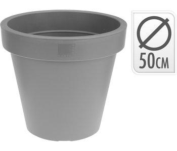 Pot de fleurs gris clair 50cm