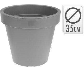 Pot de fleurs gris clair 35cm