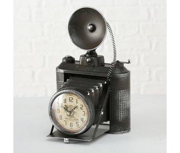 Klok fototoestel ijzer h33cm