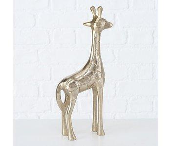 Figuur Raffy giraffe h30 cm alu gold