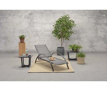 Chaise longue Limone noir carbone / anthracite