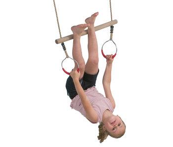 Ring met trapeze - touw 200cm 58.5x16x5.5