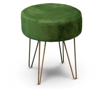 Tabouret avec base en métal d35 cmx40 cm vert avocat