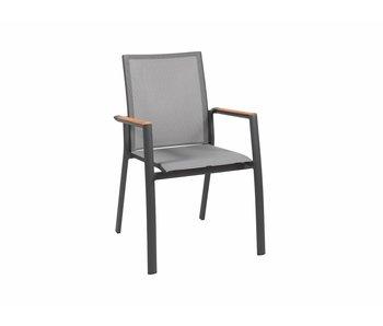Gescova Getafe stoel - houtskool/zilvergrijs