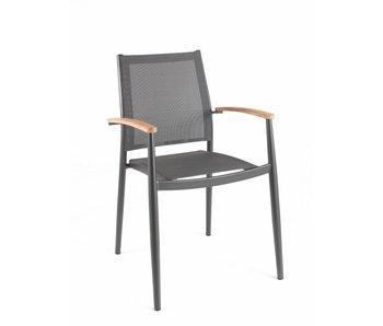 Gescova Jerrica stoel - houtskool/donkergrijs