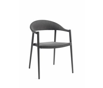 Gescova Chaise Matteo - anthracite / aluminium gris foncé / textilène